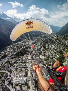paragliding over Chamonix, France!!