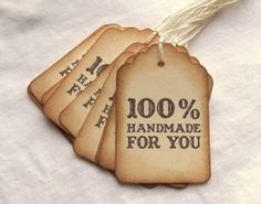 Handmade For You Tags  Vintage Inspired