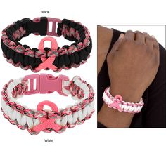 Breast Cancer Awareness - Breast Cancer Store - Pink Ribbon Paracord Bracelet