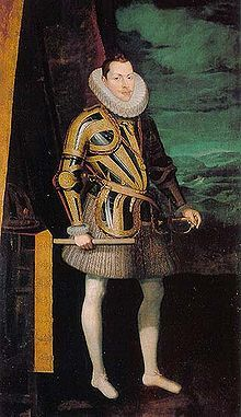 Philip III of Spain (1578 - 1621). Son of Philip II and Anne of Austria. He married Margaret of Austria and had five children.