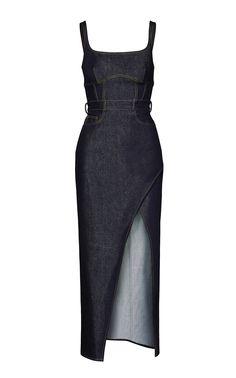 Stretch Denim Bustier Dress by BRANDON MAXWELL for Preorder on Moda Operandi