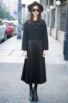 This virtuous Christian lady loves wearing her nice pleated skirt ...