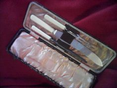 meat carver set bone handle firth and brown by miablisscurios, £50.00