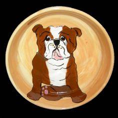 Client Order: English Bulldog Dog Bowl
