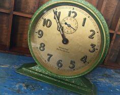 Vintage Westclox Big Ben Clock, horloge vert Vintage, grand VintageClock, horloge ancienne