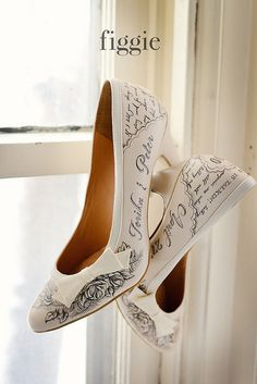 "Personalized ""Love Letter"" Shoes, hand painted by Figgie 