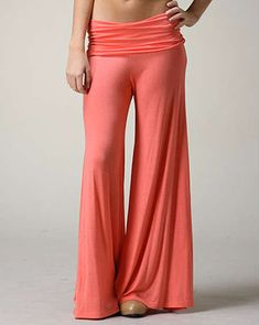 PALAZZO HAREM SOLID FLARED WIDE LEG TROUSERS at Jolie Styles