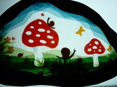 mushrooms and snails transparency