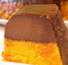 Receita de Bolo de Cenoura com Pudim de Chocolate - Receita Toda Hora
