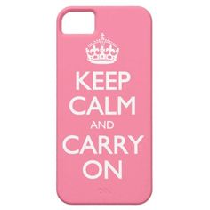 Keep Calm And Carry On Pink Girly iPhone 5 Cases