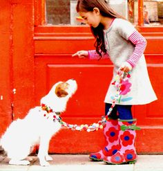 cute picture from Boden catalog. Love the leash.
