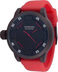 Relógio Esportivo Oversized Spartan 49mm (Dark-Red band)