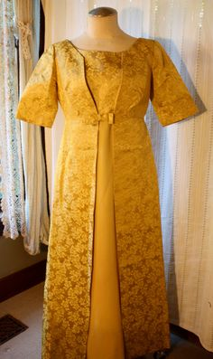 60s Vintage Women's Dress & Overcoat with Bow by DulcetVintage, $30.00