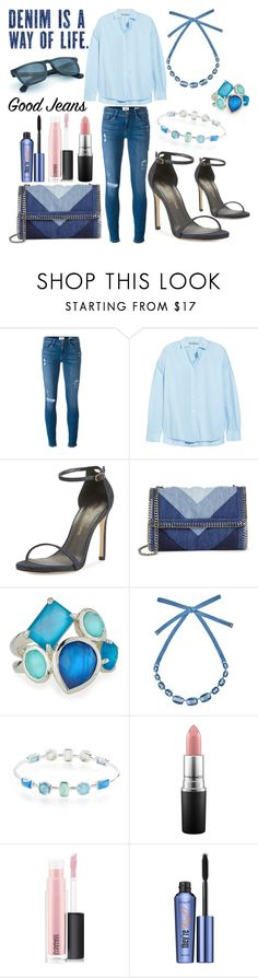 """The Canadian Tuxedo"" by marielle80 ❤ liked on Polyvore featuring Frame, Vince, Stuart Weitzman, STELLA McCARTNEY, Ippolita, Atelier Swarovski, MAC Cosmetics and Benefit"