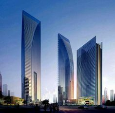 The magnificent 70 story Twin Gateway Towers being built at GIFT (Gujarat International Finance Tech City) in India. The third smaller tower is 45 storied.