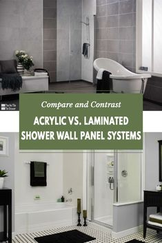 In this article we will provide you with the advantages AND disadvantage of choosing an acrylic shower system or a laminate wall panel system. We want you to have all of the information before making a decision Laminate Wall Panels, Acrylic Wall Panels, Diy Bathroom Remodel, Shower Remodel, Bathroom Remodeling, Remodeling Ideas, Bathroom Wall Panels, Shower Wall Panels, Innovation