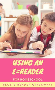 Have you ever thought about using an e-reader for your homeschool? Here are some facts and tips. PLUS I have an e-reader giveaway you won't want to miss! Reading Resources, Reading Books, Parenting Articles, Parenting Hacks, Home Learning, Learning Activities, Homeschool Apps, Homeschooling Resources, Blog Love