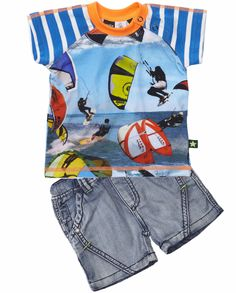BABY BOY PRINT TEE | CozyKidz » Baby Boy + Molo + T-shirt » Kite Rider tee by Molo Kids