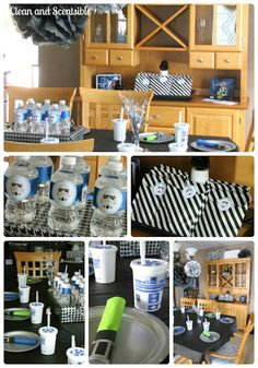 Star Wars Party- includes printable of the storm trooper head for water bottles and favor bags!