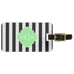 >>>best recommended          	Black White Stripe Mint Grn Quatrefoil 3 Monogram Tag For Luggage           	Black White Stripe Mint Grn Quatrefoil 3 Monogram Tag For Luggage In our offer link above you will seeThis Deals          	Black White Stripe Mint Grn Quatrefoil 3 Monogram Tag For Luggag...Cleck Hot Deals >>> http://www.zazzle.com/black_white_stripe_mint_grn_quatrefoil_3_monogram_luggage_tag-256682965211703257?rf=238627982471231924&zbar=1&tc=terrest
