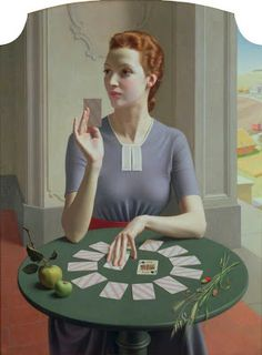 A Game of Patience, 1937 by Meredith Frampton on Curiator, the world's biggest collaborative art collection. Caspar David Friedrich, Deco Gamer, Art Deco, Tate Gallery, Digital Museum, National Portrait Gallery, Art Uk, Female Portrait, Portrait Poses