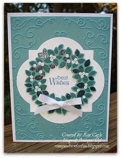 Stamp and Sew For Fun - Wondrous Wreath Cards Stampin' Up!