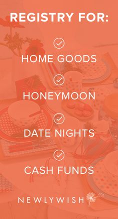 Sign up for the Ultimate Wedding Registry. You can get beautiful, stylish, practical gifts — or go nuts and register for a grandiose honeymoon experience!