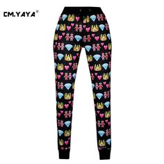 CMYAYA 2016 New Casual Black Emoji Print Men/Women/Girls/Boys Enjoy 50% Discount Jogger Pant at our web shop http://www.aliexpress.com/store/536244