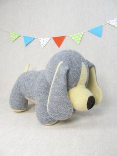 Wool Puppy Stuffed Toy Plush Handmade Children by ViolaStudio
