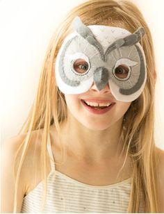 Felt Snowy Owl Mask Pattern. INSTANT DOWNLOAD sewing by EbonyShae