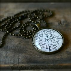 JEREMIAH 29 11 Necklace. $15.00, via Etsy.