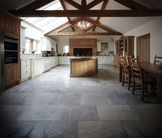 New Montpellier Limestone Floor Tiles traditional kitchen from Lapicida