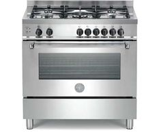 """A365GGVXE Bertazzoni 36"""" Master Series Standard 5-Burner All Gas Range with Convection Oven - Stainless Steel $2999"""