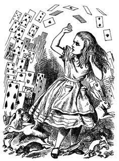 Vintage Alice in Wonderland Illustrations | Vintage Ephemera: Book illustration, 'pack of card,' Alice in ...