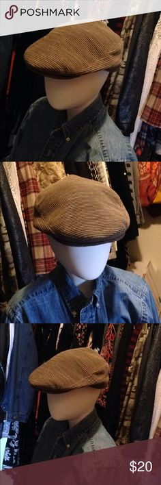 Cap old timers This hat is so cute I seen them all over totally trendy old fashion golf type hat it looks like corduroy I got it at the sample sale it says size 58 but it fits my head and it's about a medium size really cute with outfits Accessories Hats
