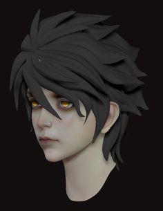 ArtStation - Boy, Gan Ye Anime Male Face, 3d Face Model, Character Design, Character Art, Illustration Character Design, Gesture Drawing Poses, Drawing Poses, Character Modeling, Zbrush Character