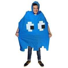 Retro Arcade Waterproof Poncho - Overcoat - Unusual gift ideas & More inc. Snug Rug & CB Radios Ayr – from Got the Gift Halloween Retro, Halloween Costumes, Halloween Ideas, Radios, Geeks, Festival Accessoires, Festival Poncho, Waterproof Poncho, Retro Arcade Games