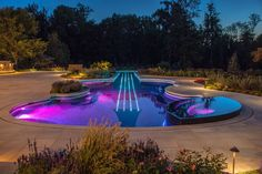 Outdoor , Attractive Small Swimming Pool Ideas : Small Swimming Pool With Unique Guitar Design And Nice Lighting Idea