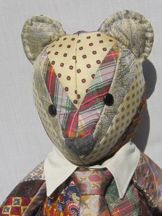 How sentimental is this! So cute.. Quilted Memory Bear by Iseam2remember on Etsy, $95.00