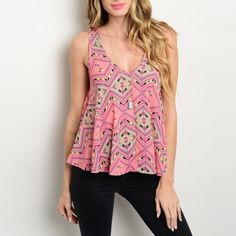 Multicolored Chiffon Top Head into Spring with this sleeveless woven chiffon top! Gorgeous multicolored mix printing with a v-neckline and relaxed trapeze fit.   100% Polyester  Sizes Available: S,M,L  *Please don't purchase this listing, I will create a new listing with your size* Boutique Tops Tank Tops