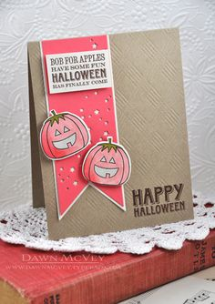 Happy Halloween Card by Dawn McVey for Papertrey Ink (August 2013)