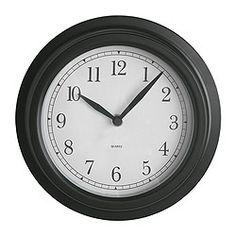 "DEKAD wall clock, black Diameter: 8 ¾ "" Diameter: 22 cm $10"