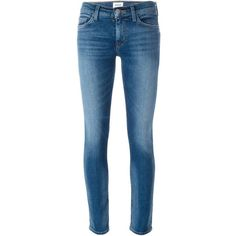 Hudson 'Tilda Selvage' cigarette jeans ($141) ❤ liked on Polyvore featuring jeans, pants, blue, hudson skinny jeans, hudson jeans, cigarette leg jeans, blue jeans and cigarette jeans