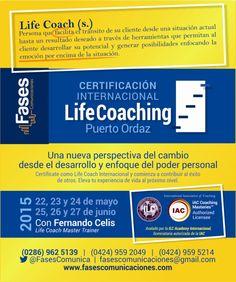 @YamiletPinto #coaching @FasesComunica  CERTIFICACIÓN INTERNACIONAL #LIFECOACH  Transforma creencia limitantes y empodérate con la Certificación Avalado por ILC Academy International con @fernancocelis * 22 de mayo y 25 a 27 de junio 2015 * Puerto Ordaz * + 58 (424) 959.5214 * fasescomunicaciones@gmail.com * http://www.fasescomunicaciones.com