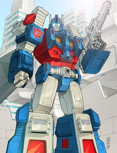 Ultra Magnus - BotCon print by wordmongerer on DeviantArt Transformers Characters, Transformers Optimus Prime, Gi Joe, Gundam, Transformers Generation 1, Ultra Magnus, Karate Kid, 90s Cartoons, Classic Cartoons