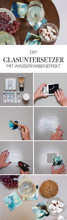 Glasuntersetzer aus Bilderrahmen selber machen - Upcycling - DIY Anleitung
