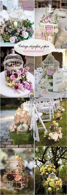Ρομαντικά λευκά.Λευκά vintage κλουβιά πουλιών..Πόσο ρομαντικά και πόσο ταιριαστά για τον τέλειο vintage στολισμό του γάμου σας.