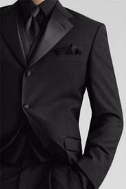"""tux like the black, red tie...maybe he""""ll be the only one with vest"""