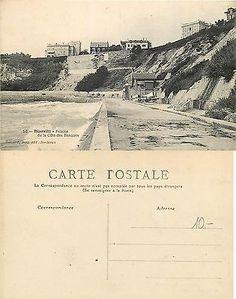 FRANCE-BIARRITZ falaise de la cote des basques (D-L XX1) 50 Euro, Biarritz, France, Country, Italia, Basque, Cliff, Antique Pictures, Rural Area