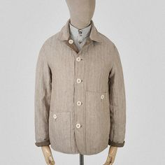 SEH Kelly - Biscuit / oatmeal linen reversible jacket